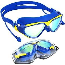 Gafas de natación antivaho con protección UV para triatlón, de Kamota (incluye estuche), Blue-2