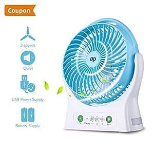 ventilator batterie tischventilator tragbar ventilator leise usb klein ventilator mit batterie. Black Bedroom Furniture Sets. Home Design Ideas