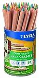 Lyra de couleur géants Crayon, Couleur Assortis Non laqué 36 4-Color-Stifte