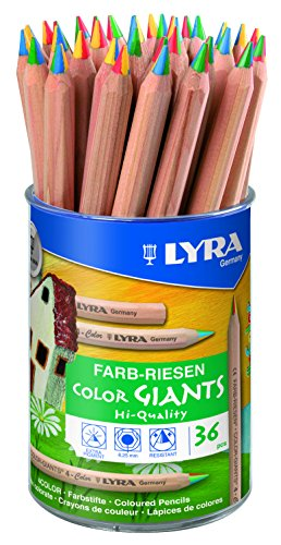 LYRA Farb-Riesen 4-Color Runddose mit 36 4-Colorstiften,