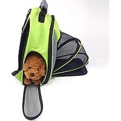 bolsos para perros Bolso portátil de mascota para mascotas Bolsa de viaje para niños transpirable Bolso para mascotas para perros pequeños Mochila para mascotas Bolso para gatos Bolsa de hombro doble para perros , 1