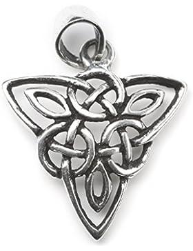 keltischer Schmuck Anhänger 925 Sterling Silber, Länge mit Schmucköse: 2,5cm