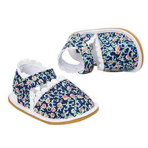 Y-BOA Chausson Bébé Fille Dentelle Premier Pas Chaussure Baptême Marche Souple Été Floral