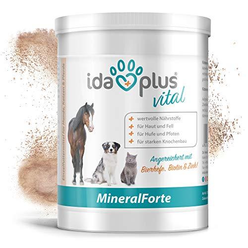 Ida Plus – Mineral-Forte 400 g als Pulver – Mineralien für Pferd, Hund & Katze – gut für Fell, Haut, Knochenbau und Horn-Struktur - natürlicher Kieselgur angereichert mit Bierhefe, Biotin & Zink