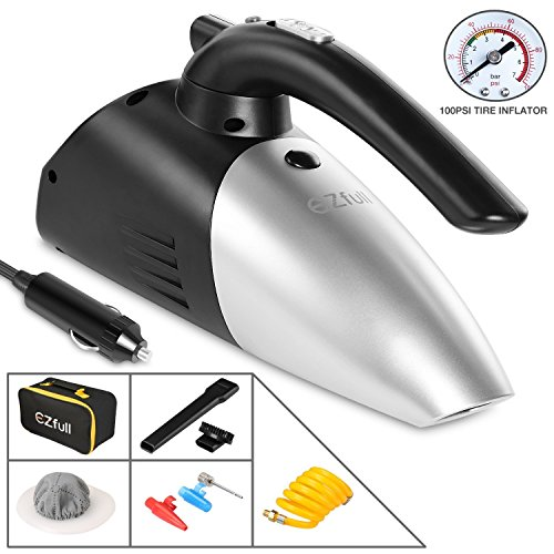 EZfull Car Vacuum Cleaner Wet&Dry Handheld Portable Mini AutomotiveAuto Vacuums DC 12V with 16.4ft(5m) Power Cord