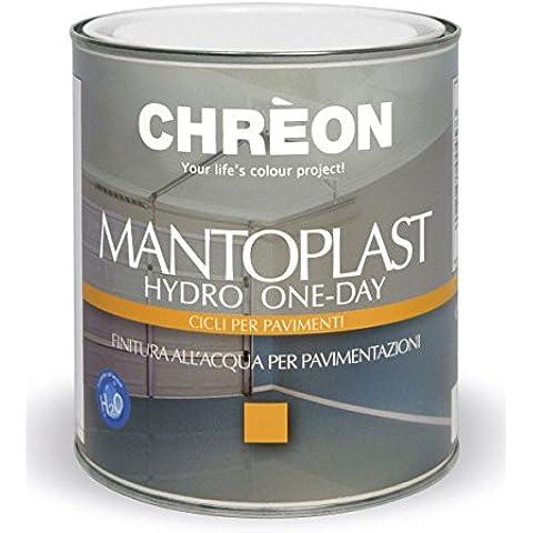Mantoplast Hydro One-Day / GRIGIO ARDESIA LUCIDO L.0.75 / finitura all'acqua per pavimentazioni in cemento, (Acqua In Cemento)