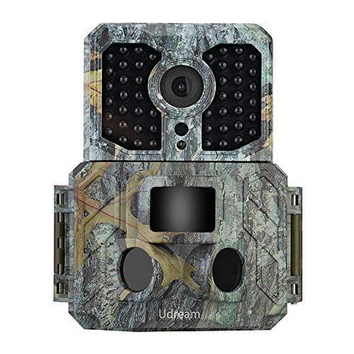 Udream Jagdkamera mit Bewegungsmelder,Wildkamera HD Wasserdichte Jagdkamera120 ° Weitwinkelobjektiv 16MP 1080P Nachtsicht Infrarot für Außen- und Heimüberwachung