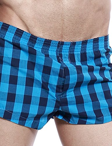SEOBEAN Herren Sexy Boxer Brief Slip Trunks Unterwäsche Underwear 2481 Blau