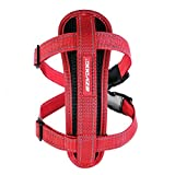 EzyDog Chest Plate Dog Harness & Car Restraint Top Quality Reflective Red Small