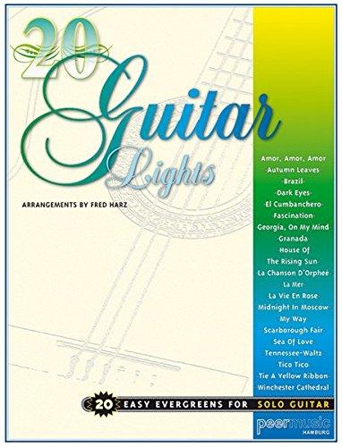 20 guitar lights: 20 easy Evergreens for solo Guitar (Pw Sammlung)