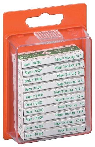 Wentronic Sortiment Feinsicherungen 5x 20 träge, Inhalt: 10 Werte zu je 10 Stück