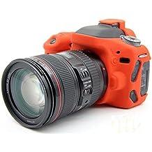 Hihouse Flexible Custodia in silicone TPU Gel Protettiva Shell Case Cover per Canon 70D 80D Camera
