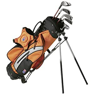 U.S. Kids Set de clubs de golf Enfant Avec caddie Ultralight Starter Orange 127-87 cm