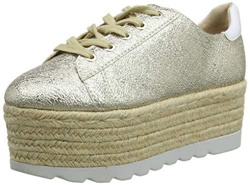 Guess Gracen/Derby/Leather, Sneaker Donna, Oro (Gold Plati), 41 EU
