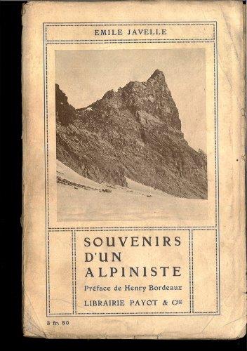 Souvenir d'un alpiniste par Javelle Emile