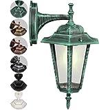 Jago Kandelaber Aussenleuchte Latenre lampe Leuchte E27 im Antik-look Höhe ca. 36 cm Gartenlampe mit Farbwahl