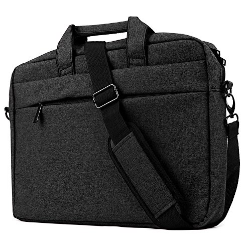 15.6-17 Borsa per Laptop Notebook Nero ,iCasso Resistente all'acqua con tracolla staccabile Custodia a Tracolla /Ventiquattrore /Sleeve per Computer Portatile MacBook Tablet HP da 17 Pollici