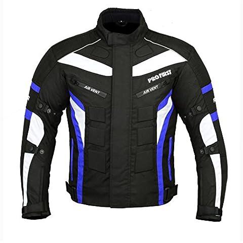 jkt-007| impermeable motocicleta chaqueta en Cordura Tela y CE ARMOUR–6Paquetes De Diseño más populares (Negro &
