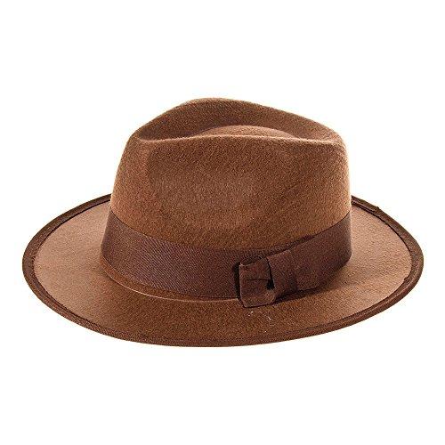 Explorer Hut Kostüm (Braun) (Outfit Indiana Jones)