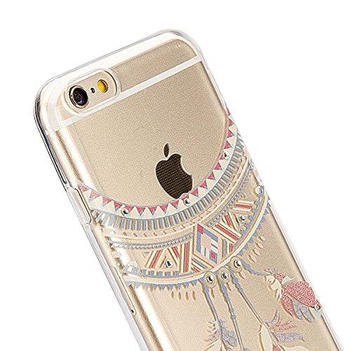 Custodia iPhone 6 Plus, iPhone 6S Plus Cover Glitter, SainCat Cover per iPhone 6/6S Plus Custodia Silicone Morbido, Custodia Bling Glitter 3D Design Transparent Silicone Case Ultra Slim Sottile Morbid Boemia