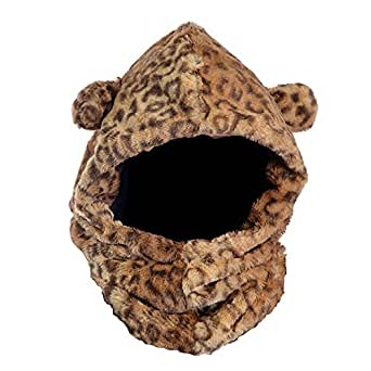 Womens/Ladies Faux Fur Leopard Winter Snood With Ears (One Size) (Leopard)