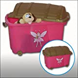 Girls' Princess Pink Toy Storage Box Nursery Toy Storage Box For Little Princesses