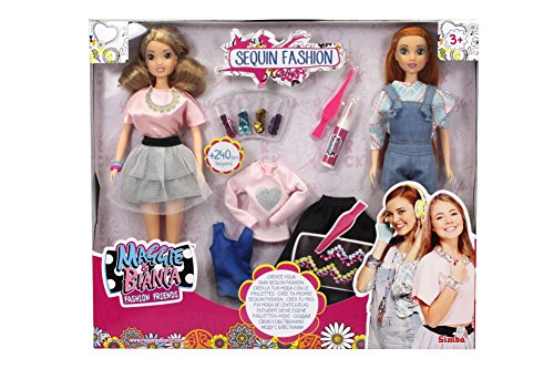 Simba- maggie e bianca set 2 fashion doll con accessori, 1