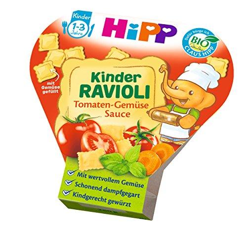 HiPP Kinder-Bio-Ravioli mit Tomaten-Gemüse-Sauce, 1er Pack (1x 250 g) (Getränke Pantry Prime)