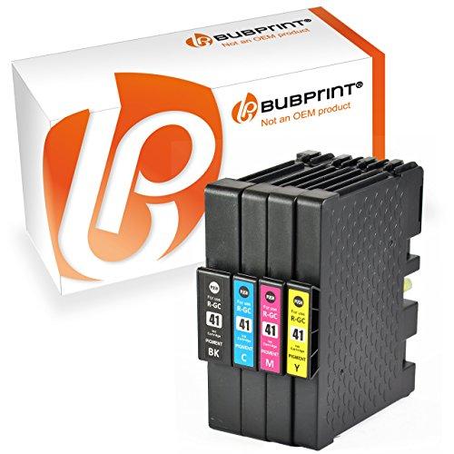 Preisvergleich Produktbild Bubprint 4 Druckerpatronen kompatibel für Ricoh GC-41 KL GC41 XXL SET