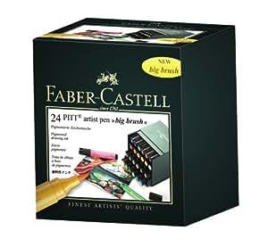 Faber-Castell PITT Artist Pen Big Brush x 24 Atelier Box