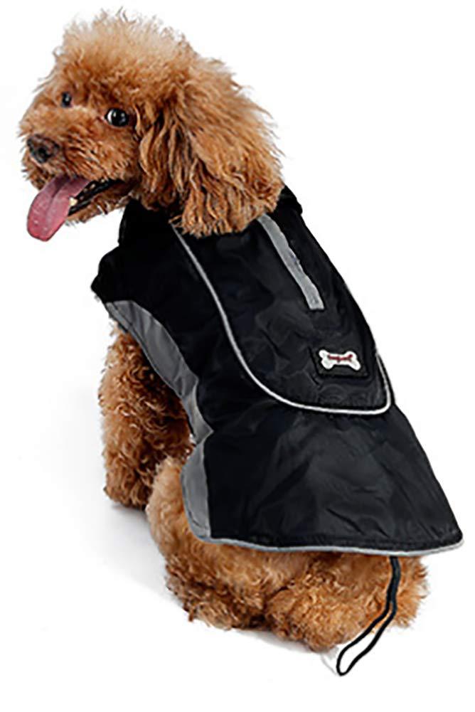 Morezi Premium Outdoor Sport Waterproof Dog Jacket Winter Warm Large Dog Coat with Harness Hole Red 5