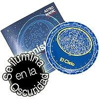 Melquiades–Planisphère Petit luminiscente–Carte stellaire que brilla en la nuit–Plastique de haute résistance à l'usure et à l'eau