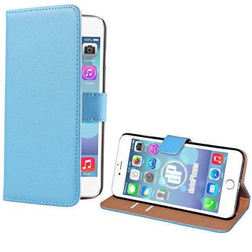deinPhone Apple iPhone 6Plus (5.5) Custodia Bumper Case per carte di credito blu