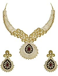 Zaveri Pearls Mesmerising Cubic Zirconia & Kundan Necklace Set For Women - ZPFK5813