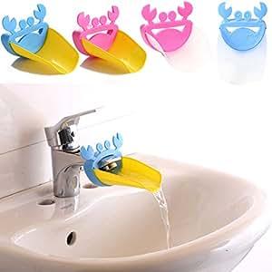 heroneo rallonge de robinet de lavabo de salle de bains motif pour enfant en forme de crabe. Black Bedroom Furniture Sets. Home Design Ideas