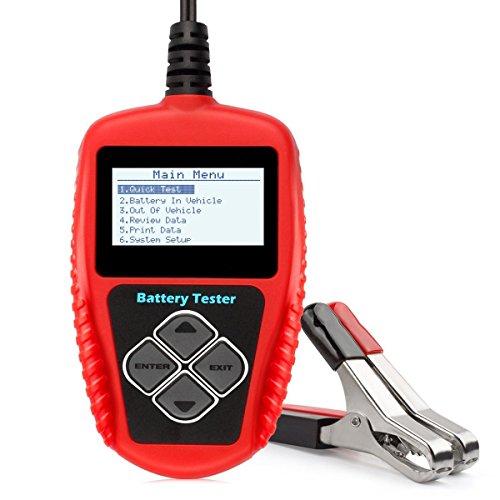 BA101 Batterie Tester 100 ~ 2000 Kaltstart Ampere 12 V Batterie Monitor Werkzeug Kompatibel mit allen 12-Volt-Fahrzeugbatterie mit Spannung 9-16V kleinste einstellbare Kapazität 30Ah-220Ah