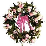 SIYWINA Corona Guirnaldas Rosas para corona Flor artificial Decoración del hogar Decoración de jardín Verano