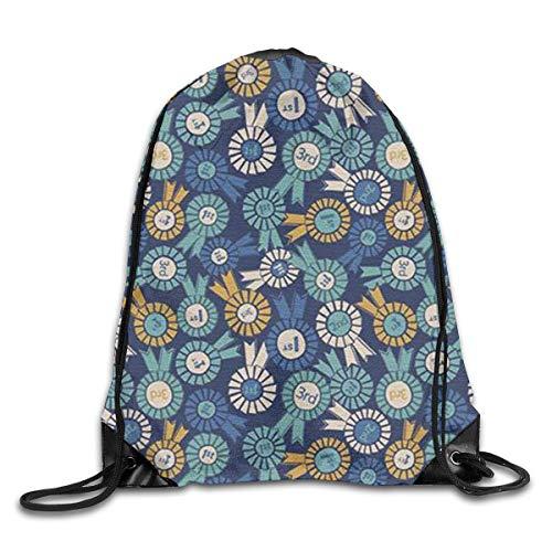 Naiyin Medal Drawstring Backpack Bag Rucksack Shoulder Sackpack Sport Gym Yoga Runner Beach Hiking Dance