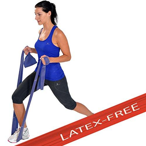 Msd fascia latex free extra forte 1,5 mt allenamento medio-alto banda elastica blu