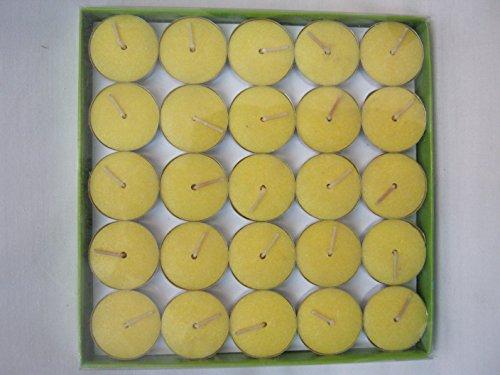 Premier - Lamparilla Citonella Amarilla BA073320 Paquetye de 50 Unidades - Amarillo