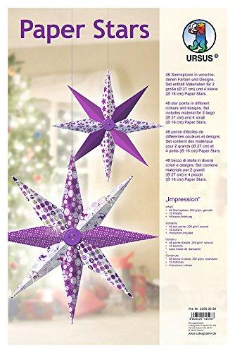 Ursus Designsterne Paper Stars Impression