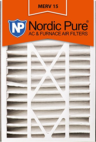 Nordic Pure 16x25x5 (4-7/8 Actual Depth) MERV 15 Trion Air Bear Replacement Pleated AC Furnace Air Filter, Box of 2
