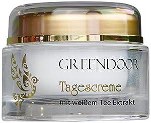 COSMÉTIQUE 100% NATUREL - Greendoor - Crème de jour VISAGE au THÉ BLANC - garanti sans ajout de graisse animale - pot de 50 ml