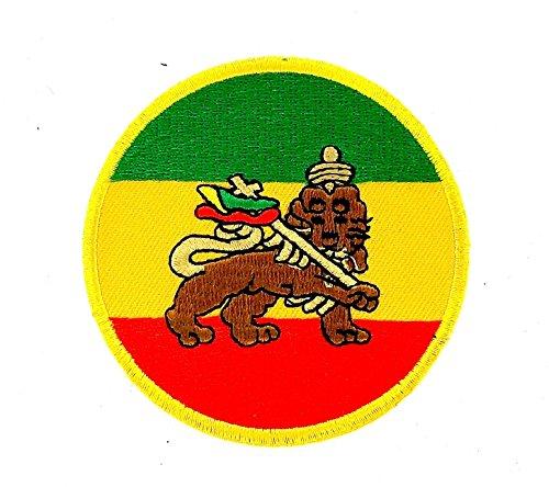 Patch Ecusson-gesticktem zum Aufbügeln Backpack Rasta Reggae Äthiopien Löwe Jehuda (äthiopien Patch)