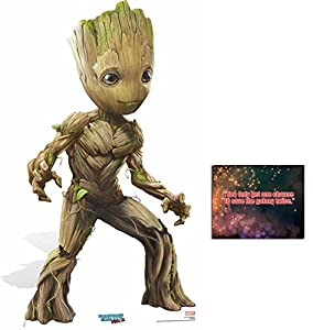 Fan Pack - Baby Groot Cute Style Guardians Of The Galaxy Vol. 2 Cardboard Standup / Cutout - Plus 8x10 Star Photo by BundleZ-4-FanZ Fan Packs by Starstills