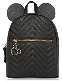 4bac032a0294 PRIMARK Ladies Girls Womens Licensed Disney Quilted Mickey Mouse Black Ears  Backpack Rucksack School Bag Gym Holiday…