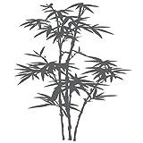 WANDKINGS Wandtattoo - blühender Bambus - 51 x 60 cm - Dunkelgrau - Wähle aus 5 Größen & 35 Farben