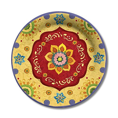 C.R. Gibson 8 Count Lunch/Dessert Plates, Tunisian Sunset by C.R. Gibson