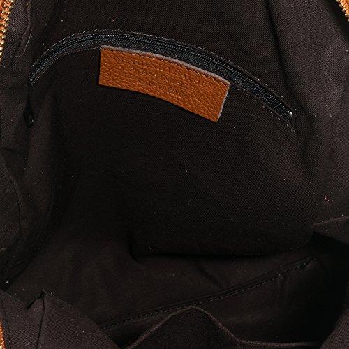 Imagen de firenze artegiani. de mujer casual piel auténtica. de piel acabado dollaro. bolso  casual mujer cuero genuino. made in italy. vera pelle italiana. 31x31x10 cm. color marron alternativa