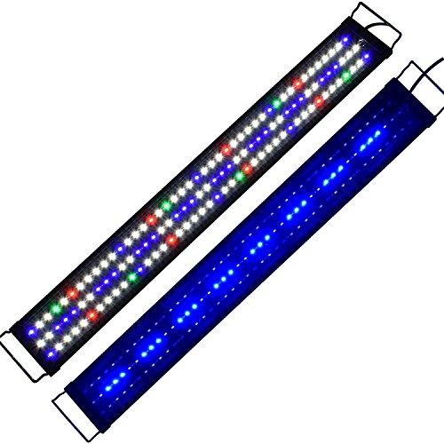 Aquarien Eco Tageslichtsimulation Aquarium LED Beleuchtung Lampe für Süßwasser Meerwasser voll Spectrum Reef Coral Fish Wasserpflanzen Aquariumleuchte Aufsetzleuchte 90CM A149